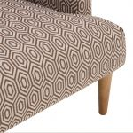 Brighton Patterned Parchment Accent Chair - Thumbnail 5
