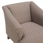 Brighton Patterned Parchment Accent Chair - Thumbnail 6