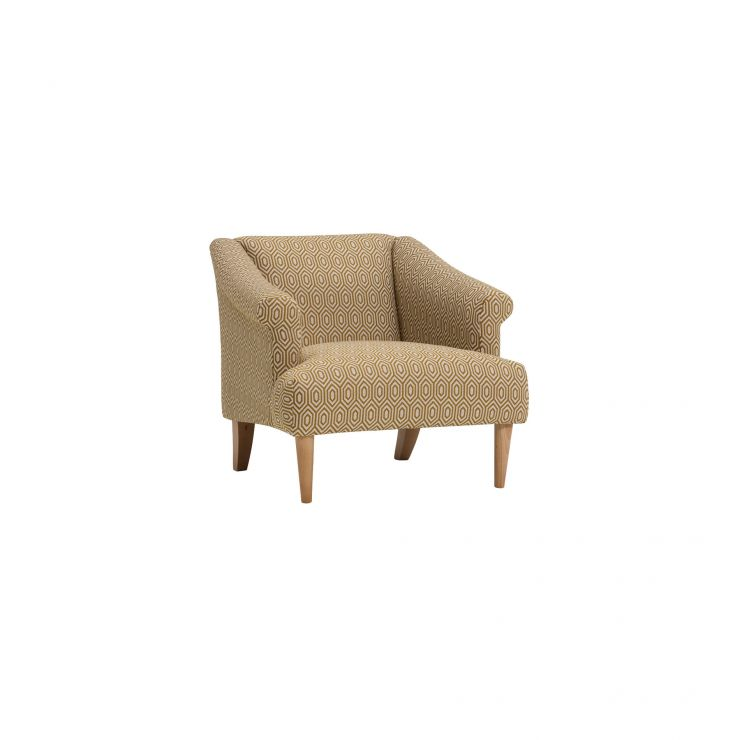 Brighton Patterned Saffron Accent Chair