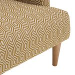Brighton Patterned Saffron Accent Chair - Thumbnail 7