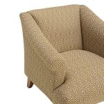 Brighton Patterned Saffron Accent Chair - Thumbnail 6