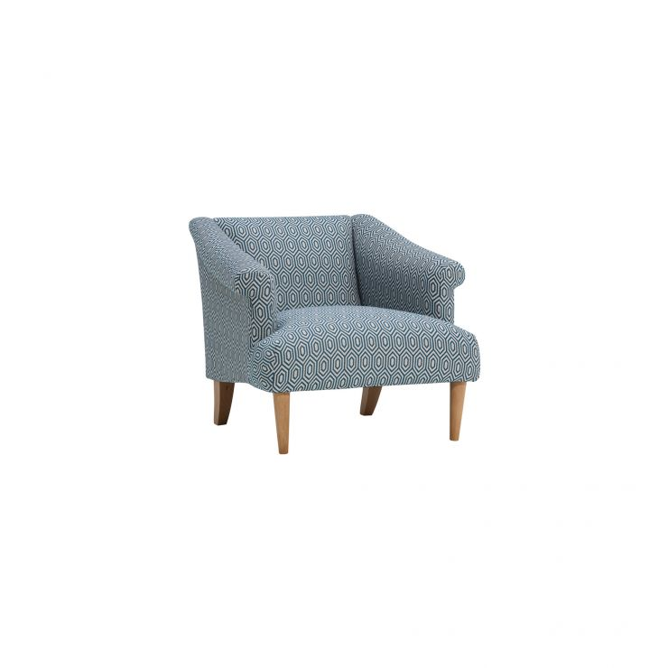 Brighton Patterned Sea Spray Accent Chair - Image 1