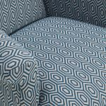 Brighton Patterned Sea Spray Accent Chair - Thumbnail 5