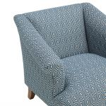 Brighton Patterned Sea Spray Accent Chair - Thumbnail 6
