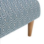 Brighton Patterned Sea Spray Accent Chair - Thumbnail 7