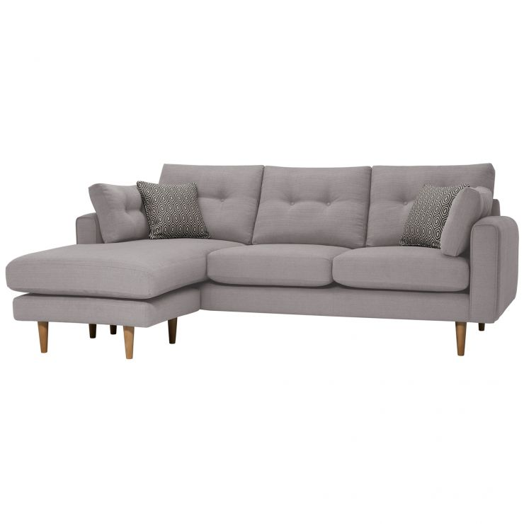 Brighton Pebble Corner Sofa Right Hand with Charcoal Scatters