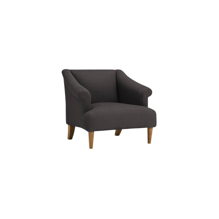 Brighton Plain Charcoal Accent Chair