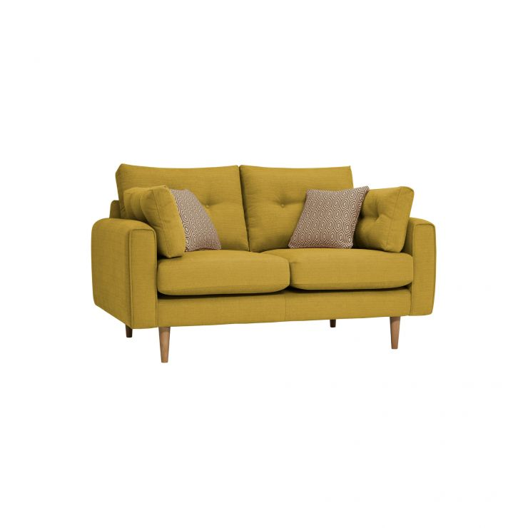 Brighton Saffron 2 Seater Sofa with Saffron Scatters