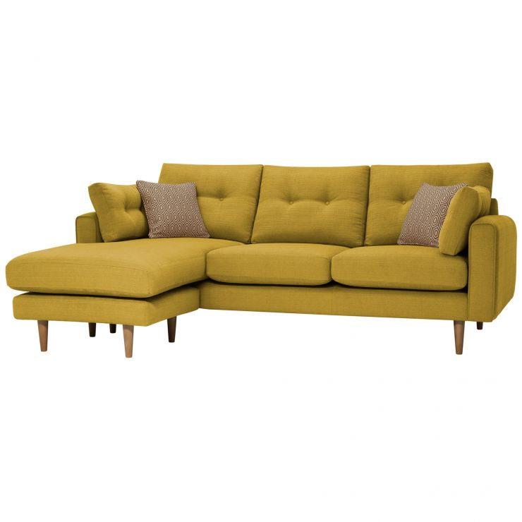 Brighton Saffron Corner Sofa Right Hand with Saffron Scatters