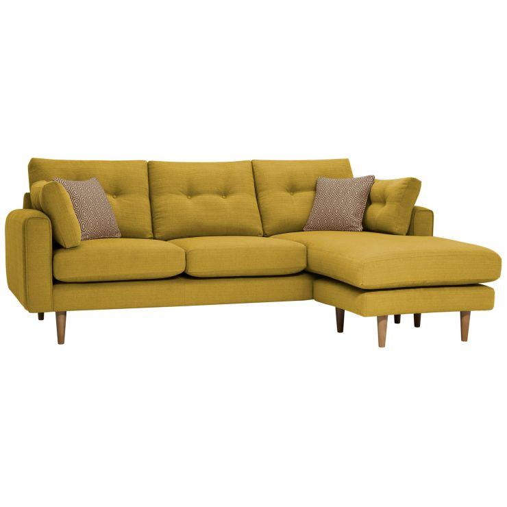 Brighton Saffron Corner Sofa Right Hand with Saffron Scatters