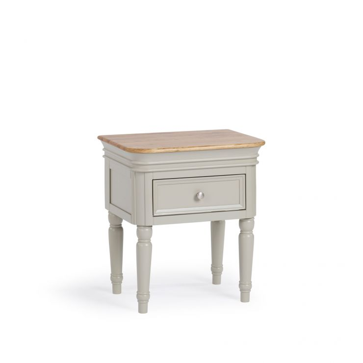 Brindle Natural Oak and Painted 1 Drawer Bedside Table