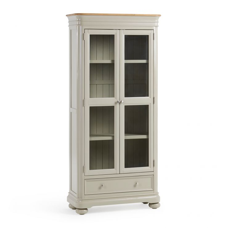 Brindle Natural Oak and Painted Display Cabinet