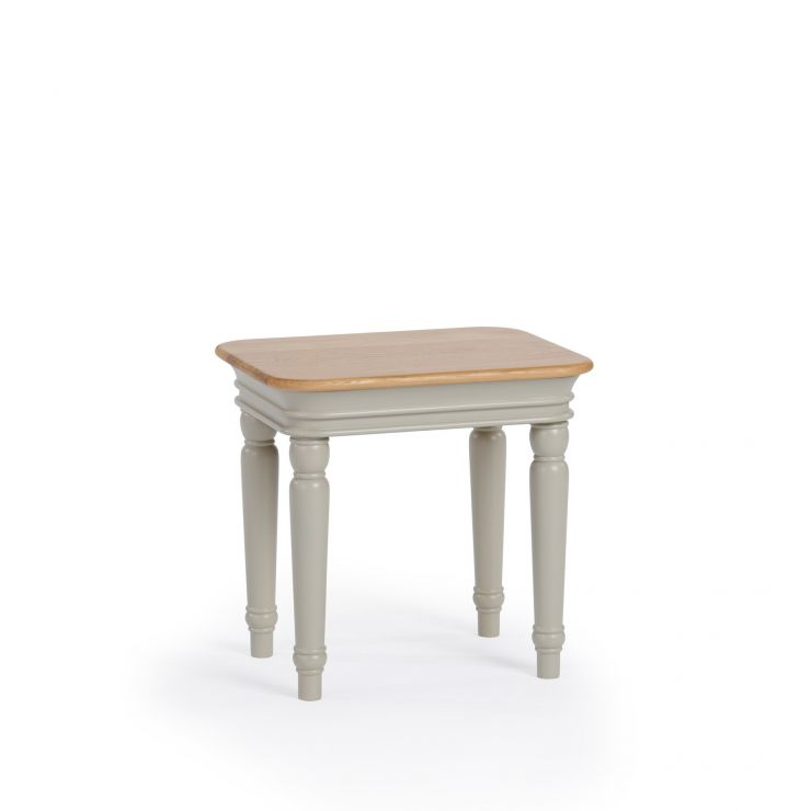 Brindle Natural Oak and Painted Dressing Table Stool
