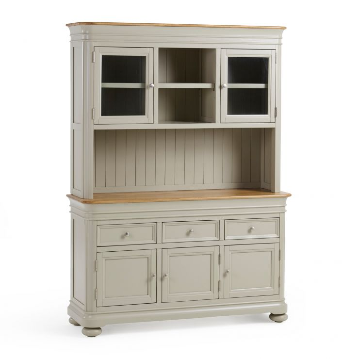 Brindle Natural Oak and Painted Large Dresser