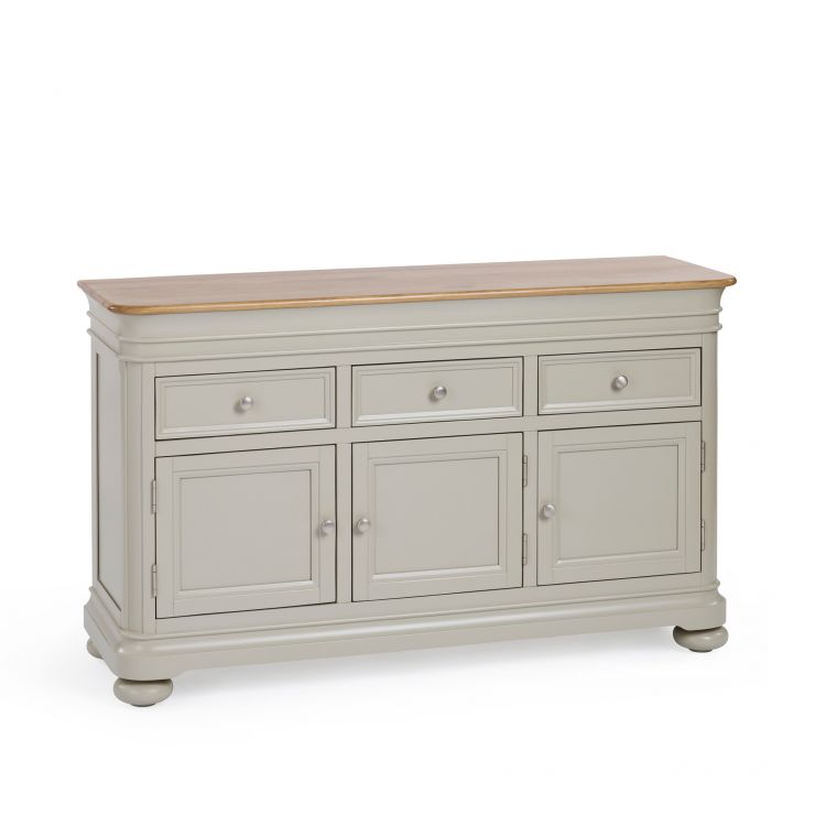 Brindle Natural Oak and Painted Large Sideboard