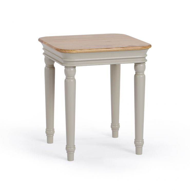 Brindle Natural Oak and Painted Side Table