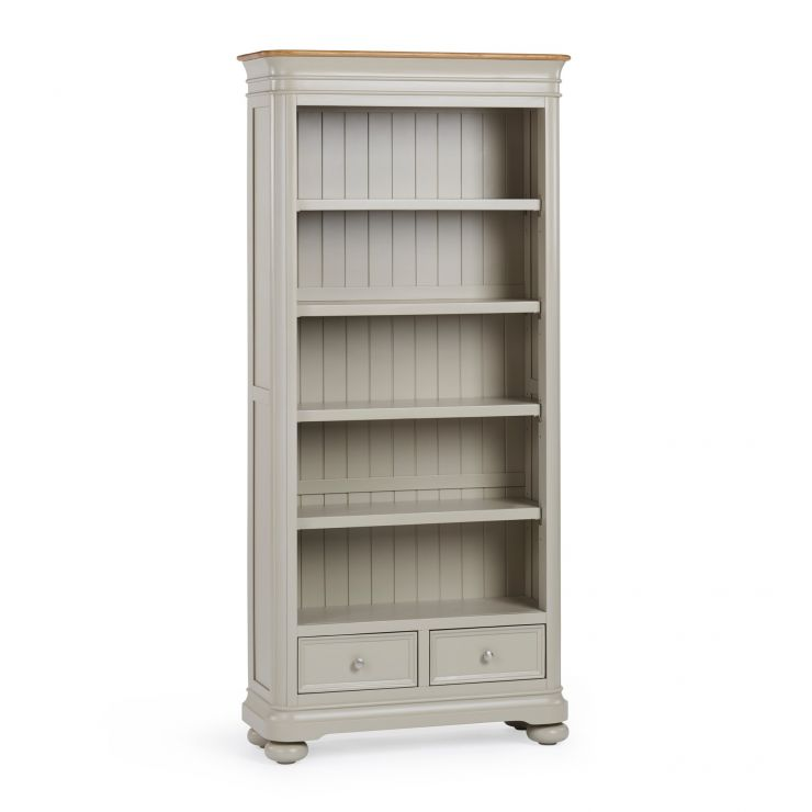 Brindle Natural Oak and Painted Tall Bookcase