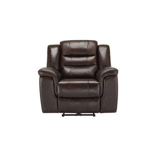 Brody Armchair with Electric Recliner - Dark Brown Leather