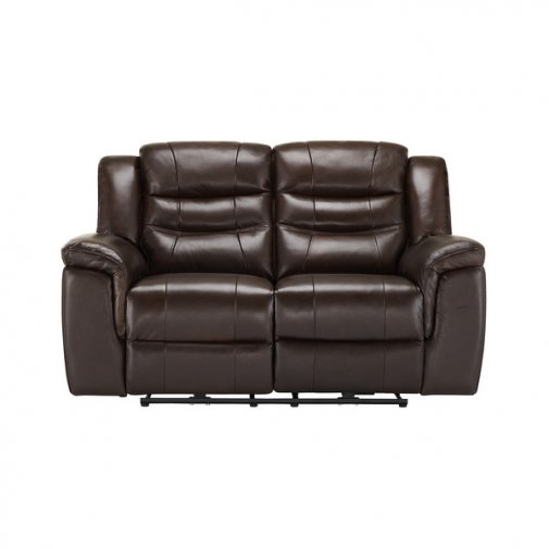 Brody 2 Seater Sofa with 2 Electric Recliners - Dark Brown Leather