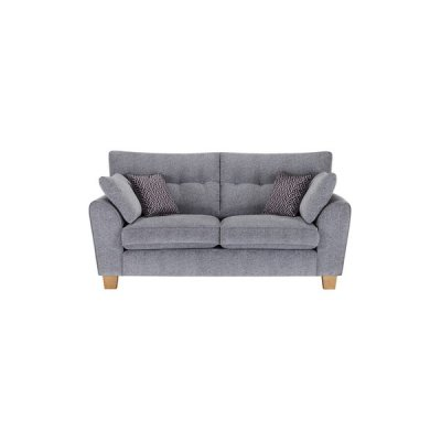 Brooke 2 Seater Sofa in Grey with Grey Scatters