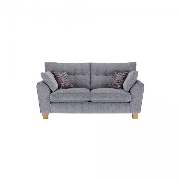Brooke 2 Seater Sofa in Grey with Grey Scatters - Image 1
