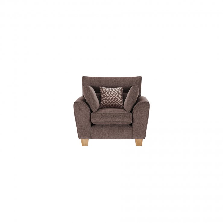 Brooke Armchair in Brown with Brown Scatters - Image 1