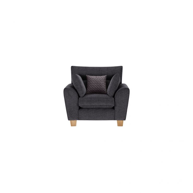 Brooke Armchair in Charcoal with Grey Scatters - Image 1