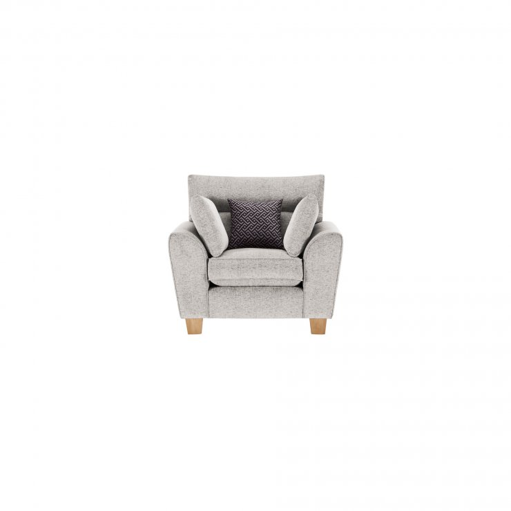 Brooke Armchair in Cream with Grey Scatters