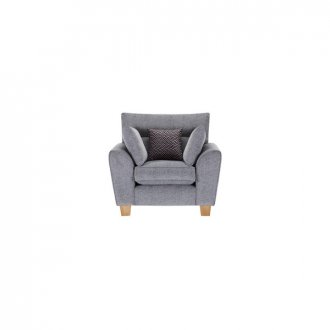 Brooke Armchair in Grey with Grey Scatters