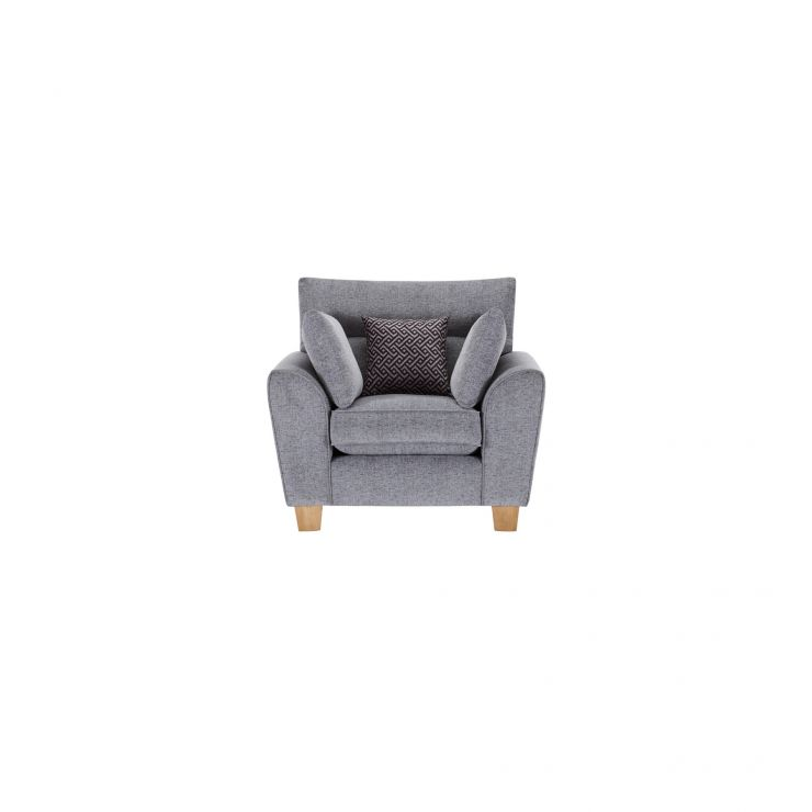 Brooke Armchair in Grey with Grey Scatters - Image 1
