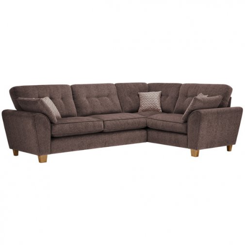 Brooke Corner Sofa Left Hand Facing Brown with Brown Scatters