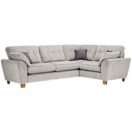 Brooke Corner Sofa Left Hand Facing Cream with Grey Scatters