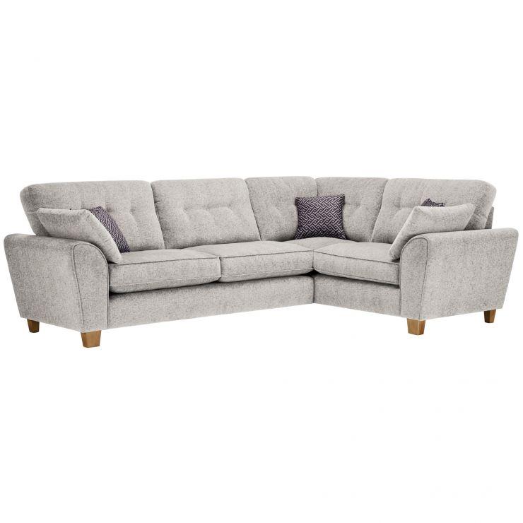 Brooke Corner Sofa Left Hand Facing Cream with Grey Scatters - Image 1