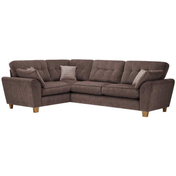 Brooke Corner Sofa Right Hand Facing Brown with Brown Scatters - Image 1