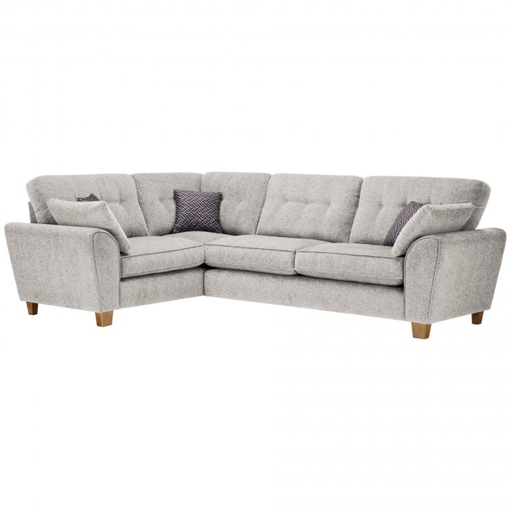 Brooke Corner Sofa Right Hand Facing Cream with Grey Scatters - Image 1