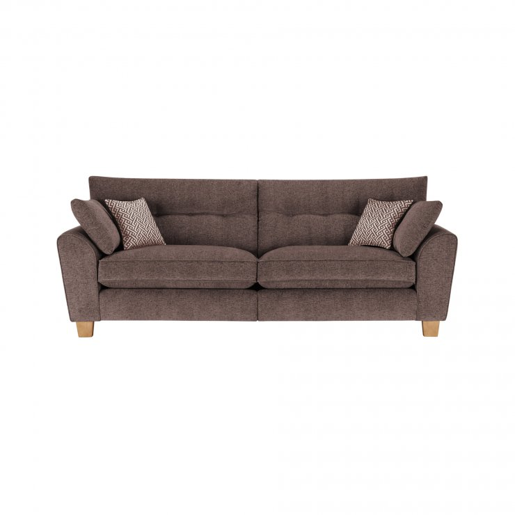 Brooke 4 Seater Sofa in Brown with Brown Scatters - Image 1