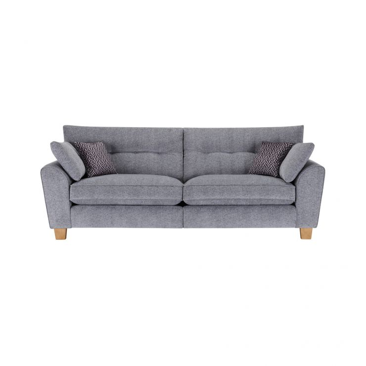 Brooke 4 Seater Sofa in Grey with Grey Scatters - Image 1