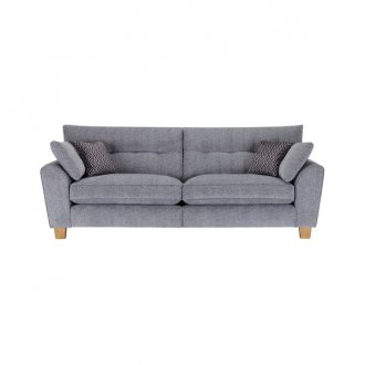 Brooke 4 Seater Sofa in Grey with Grey Scatters