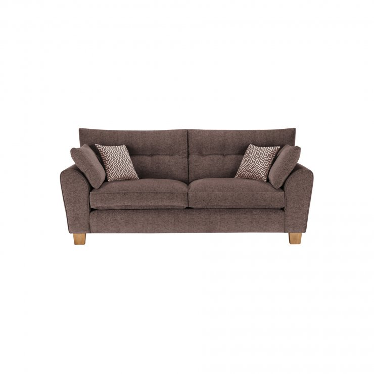 Brooke 3 Seater Sofa in Brown with Brown Scatters - Image 1