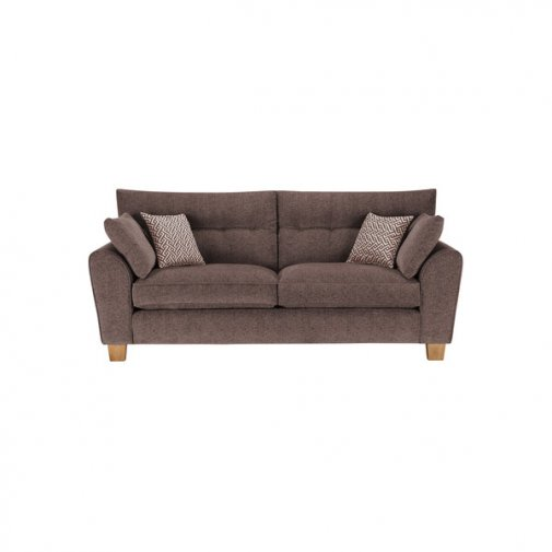 Brooke 3 Seater Sofa in Brown with Brown Scatters