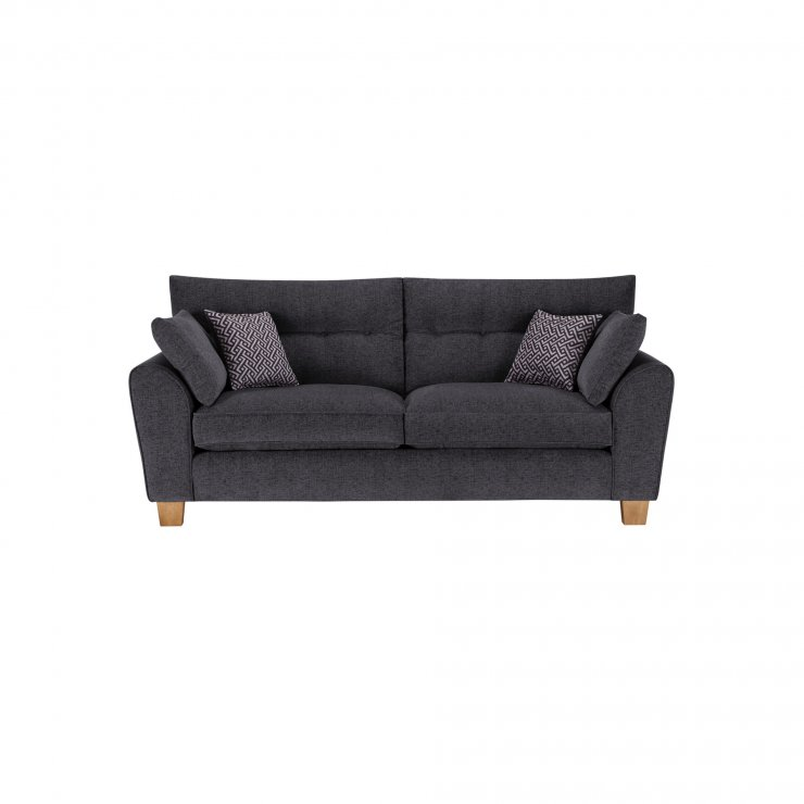 Brooke 3 Seater Sofa in Charcoal with Grey Scatters