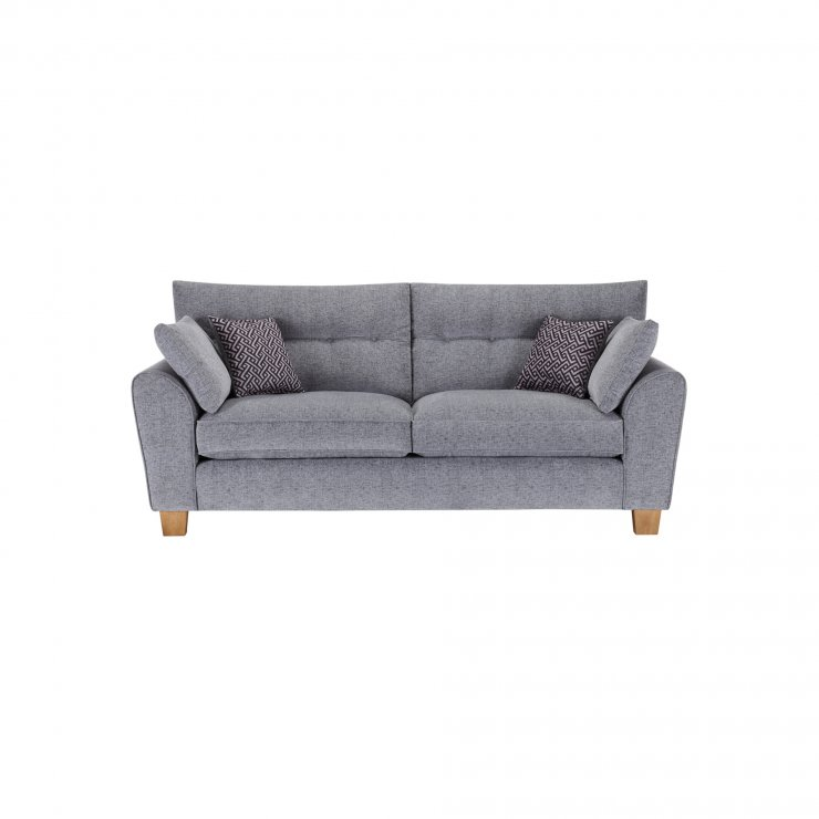 Brooke 3 Seater Sofa in Grey with Grey Scatters - Image 1