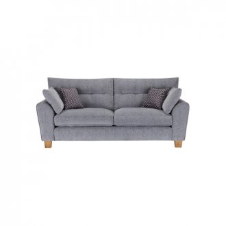 Brooke 3 Seater Sofa in Grey with Grey Scatters