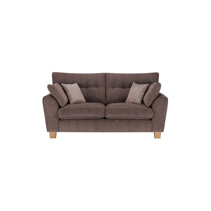 Brooke 2 Seater Sofa in Brown with Brown Scatters - Image 1