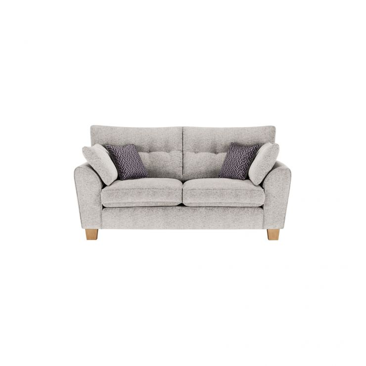 Brooke 2 Seater Sofa in Cream with Grey Scatters - Image 1