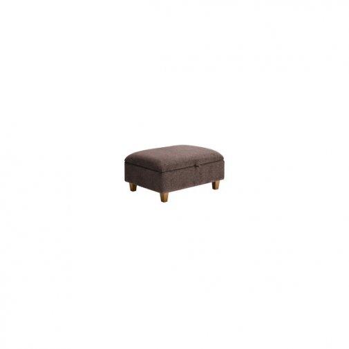 Brooke Plain Storage Footstool in Brown