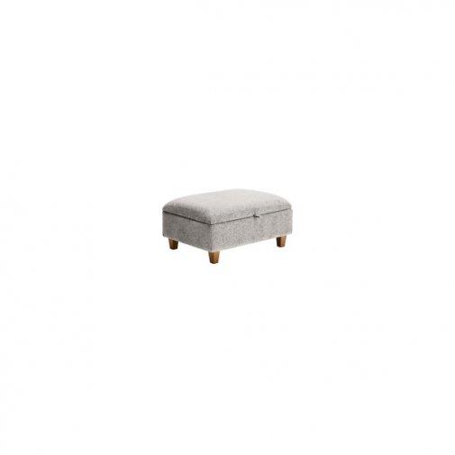 Brooke Plain Storage Footstool in Cream