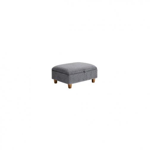 Brooke Plain Storage Footstool in Grey