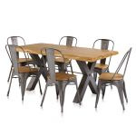 Brooklyn Dining Table with 6 Brooklyn Chairs - Thumbnail 1