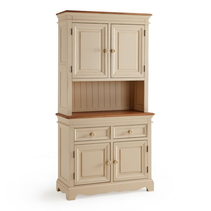 Burford Rustic Solid Oak and Distressed Paint Finish Small Dresser